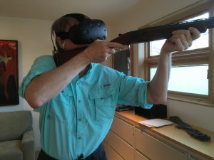 Testing the First Patented Virtual Reality Real Gun Controller