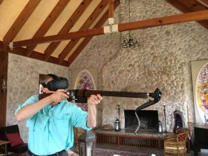 Using a Real Gun as a Virtual Reality Gun Controller