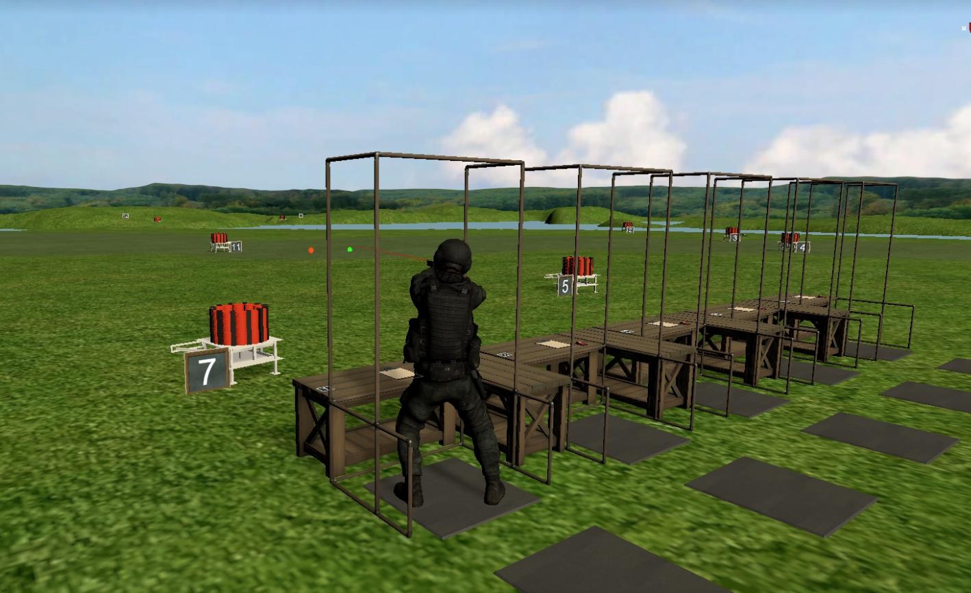 Synthetic Training Environment Shooting Simulator